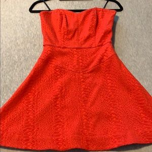 Bebe size 4 red cocktail dress